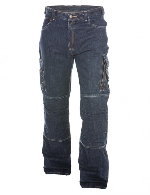 Dassy, Knoxville, arbeitshose, arbeitsjeans, jeans, hose, arbeit, workwear, 200691, blau, 0261, kniepolster, jeanshose, friedewald, arbeitsklamotte, arbeitskleidung, berufskleidung-Dassy Knoxville Arbeitsjeans mit Kniepolstertaschen Herren - 390 g/m²-DA-200691