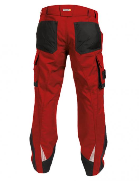 Dassy, nova, bundhose, arbeitshose, berufsbekleidung, rot, 200846 - Dassy-Dassy Nova Arbeitshose mit Kniepolstertaschen Herren - 250 g/m²-DA-200846