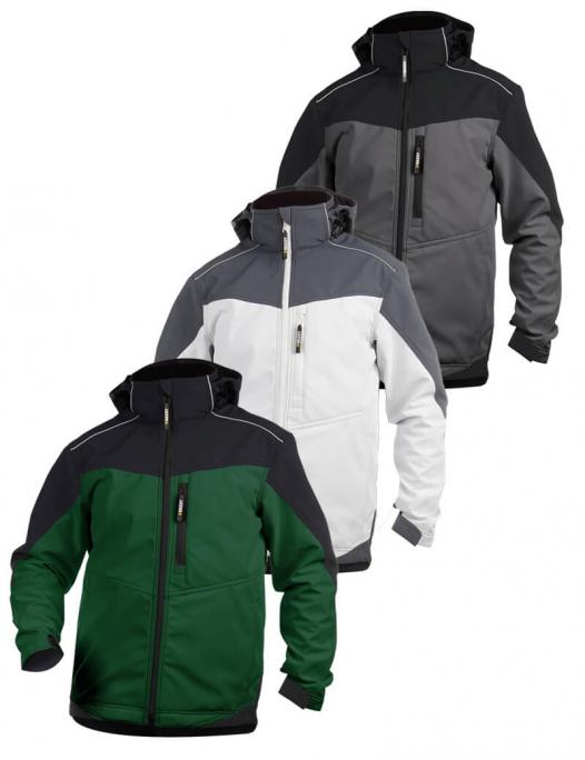 dassy, jakarta, jacke, softshell, soft, arbeit, work, jacket, 300336, fleece, wasserdicht, winddicht, stretch, kfz, mechaniker, bau, metall, zweirad, werkstatt, maler, lackierer, putzer-Dassy Jakarta Softshell-Arbeitsjacke Herren - 280 g/m²-DA-300336