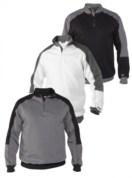 Dassy, basiel, sweater, sweatshirt, langarm, longsleeve, arbeit, work, verstärkt, pulli, pullover, veredelung, kfz, mechaniker, bau, metall, zweirad, werkstatt, maler, lackierer, putzer, arbeitskleidung-Dassy Basiel Sweatshirt Herren - 290 g/m²-DA-300358