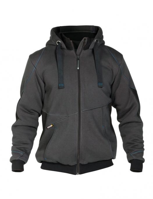 dassy, sweatshirt, jacke, zweifarbig, Pulse, kfz, mechaniker, bau, metall, zweir - Dassy-Dassy Pulse Sweatshirt-Jacke Herren - 290 g/m²-DA-300400