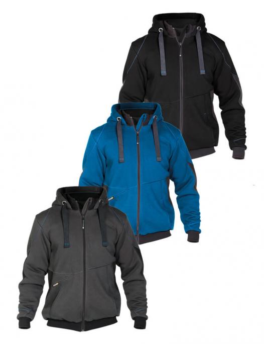 dassy pulse sweatshirt jacke anthrazitgrau schwarz DA-300400-6479-Dassy Pulse Sweatshirt-Jacke Herren - 290 g/m²-DA-300400