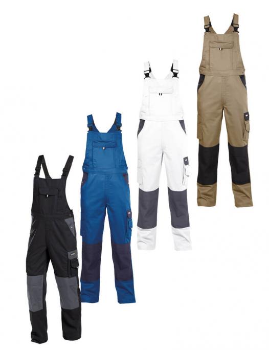 Dassy, latzhose, versailles, overall, latz, hose, kniepolster, taschen, arbeit, work, robust, cordura, schreiner, tischler, holzverarbeitung, holz, kfz, mechaniker, bau, metall, zweirad, werkstatt, berufskleidung, arbeitshose-Dassy Versailles Latzhose mit Kniepolstertaschen Herren - 245 g/m²-DA-400124