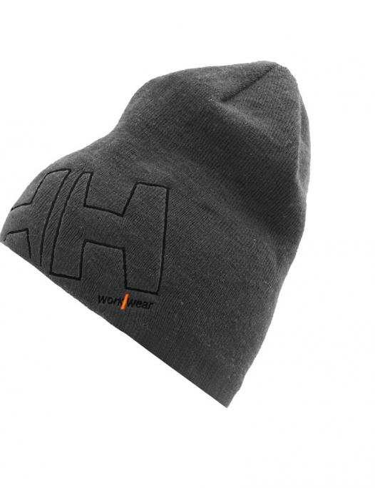 helly hansen, workwear, beanie, logo, kopf, bedeckung, mütze, hut, rot, dunkelgr - hhworkwear-Helly Hansen Workwear Beanie-HE-79830