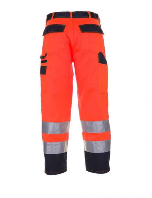 planam, warnschutz, schutzbekleidung, arbeit, work, reflektion, gelb, orange, wa - Planam-Planam Arbeitshose Warnschutz-PL-201