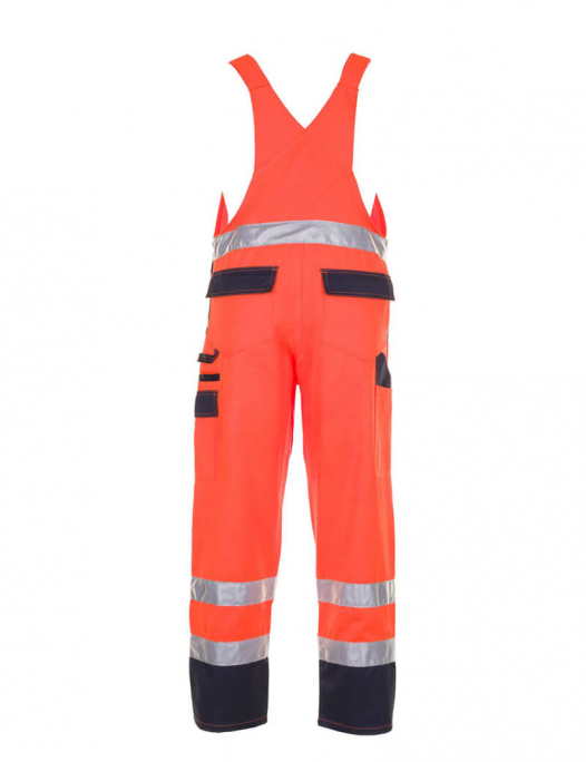planam, warnschutz, schutzbekleidung, arbeit, work, reflektion, gelb, orange, wa - Planam-Planam Latzhose Warnschutz-PL-202