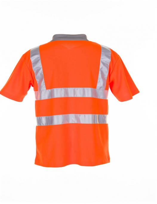 planam, warnschutz, schutzbekleidung, arbeit, work, reflektion, gelb, orange, wa - Planam-Planam Poloshirt Warnschutz-PL-209