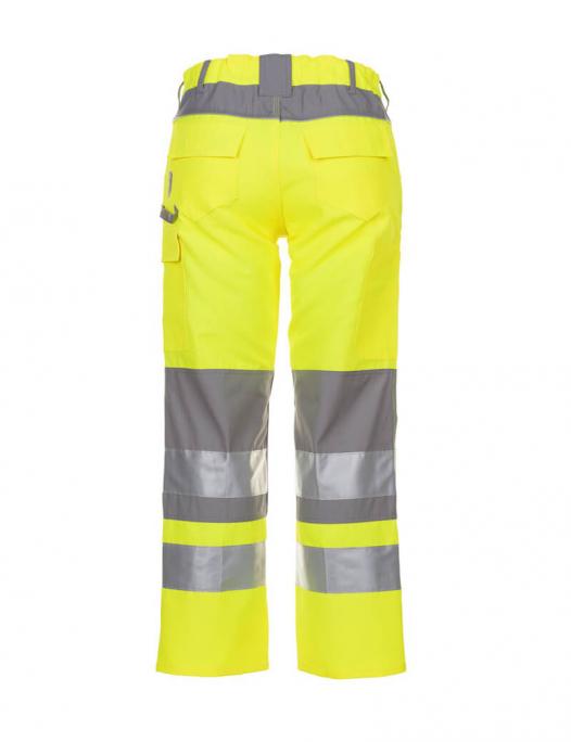 planam, warnschutz, schutzbekleidung, arbeit, work, reflektion, gelb, zink, warn - Planam-Planam Arbeitshose Warnschutz Plaline-PL-561