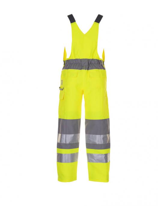 planam, warnschutz, schutzbekleidung, arbeit, work, reflektion, gelb, zink, warn - Planam-Planam Latzhose Warnschutz Plaline-PL-562