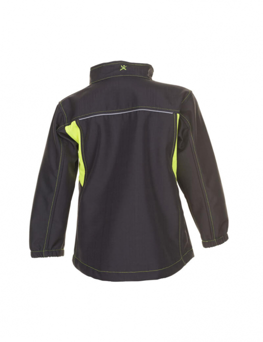 planam, basalt, arbeit, work, softshell, fleece, weich, warm, jacke, jacket, kin - Planam-Planam Softshelljacke Junior-PL-613