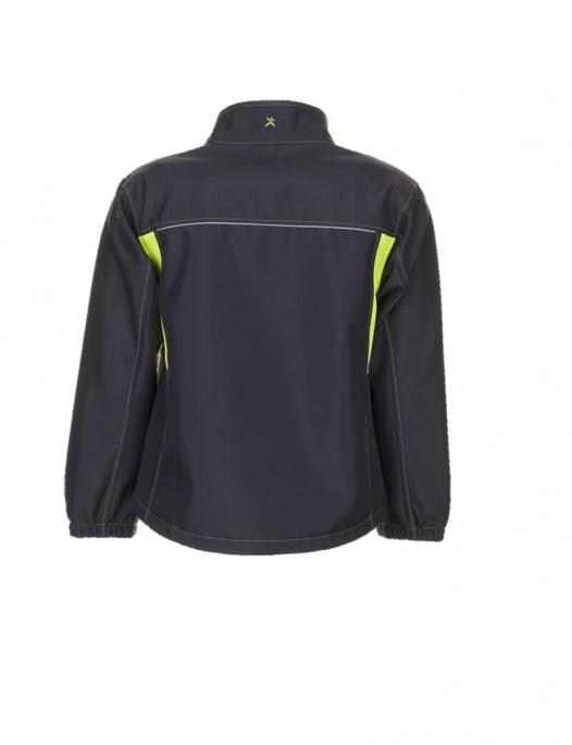 planam, basalt, arbeit, work,softshell, fleece, weich, warm, jacke, jacket, männ - Planam-Planam Softshell-Arbeitsjacke Basalt Neon-PL-629